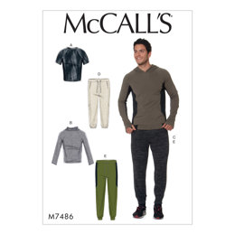 McCall's Men's Raglan Sleeve Tops and Drawstring Pants M7486 - Sewing Pattern