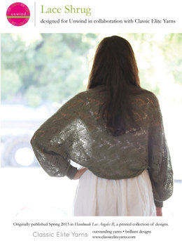 Lace Shrug in Classic Elite Yarns Firefly - Downloadable PDF