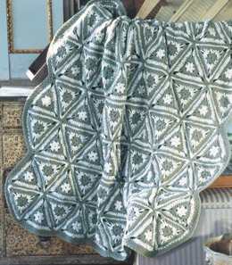 Angular Granny Throw in Red Heart Super Saver Economy Solids - CTMar09-70