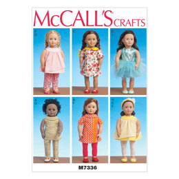 McCall's Clothes for 18 Dolls M7336 - Sewing Pattern