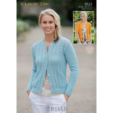 Long and Short Sleeved Cardigans in Sirdar Click DK - 9523 - Downloadable PDF