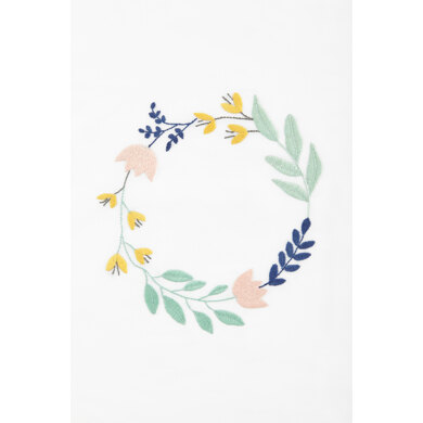 Floral Wreath  in DMC - PAT0054 -  Downloadable PDF