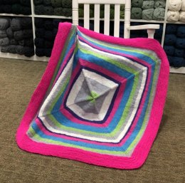 Inside Out Baby Blanket in Plymouth Yarn Hot Cakes - F835 - Downloadable PDF