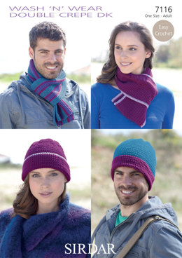 Hats & Scarves in Sirdar Wash 'n' Wear Double Crepe DK - 7116