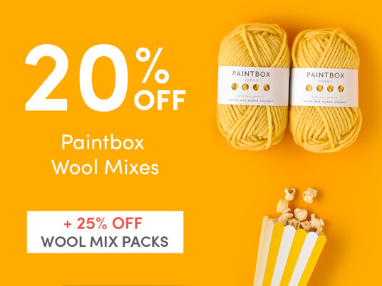 20 percent off Paintbox Wool Mixes & 25 percent off Wool Mix Packs!