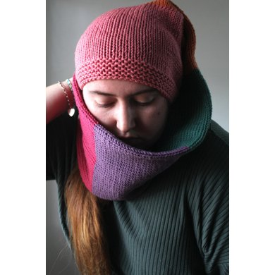Knitted Beanie Scarf
