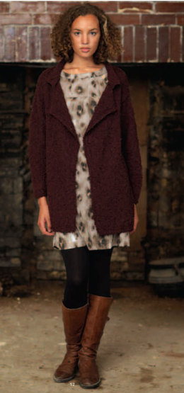 Simple Coat in Debbie Bliss Cashmerino Astrakhan - OOT05