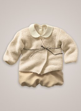Babies Cross Over Cardigan in Bergere de France Barisienne  - 60437-03 - Downloadable PDF