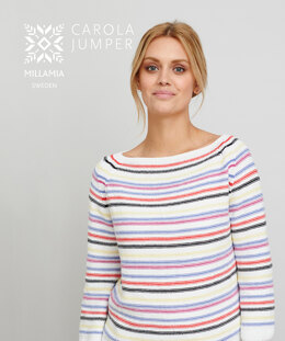 Carola Jumper in MillaMia Naturally Soft Cotton - Downloadable PDF