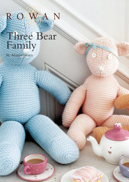 Three Bear Family in Rowan Baby Merino Silk DK