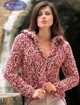 Magda Jacket in Adriafil Dot and New Zealand - Downloadable PDF