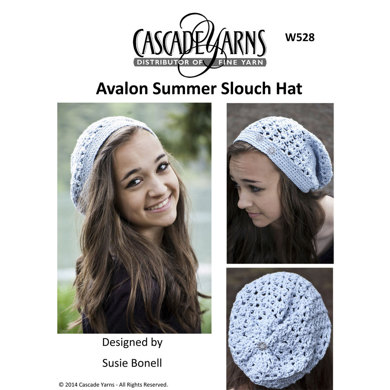 Summer Slouch Hat in Cascade Avalon - W528