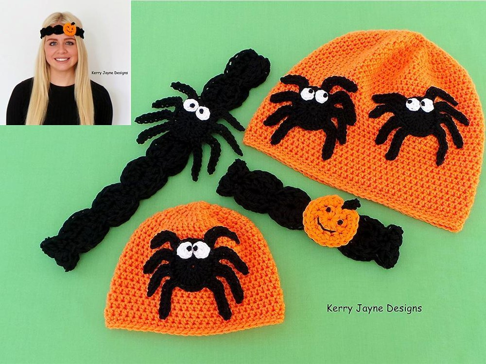 Halloween Hat And Headband Set Crochet Pattern By Kerry