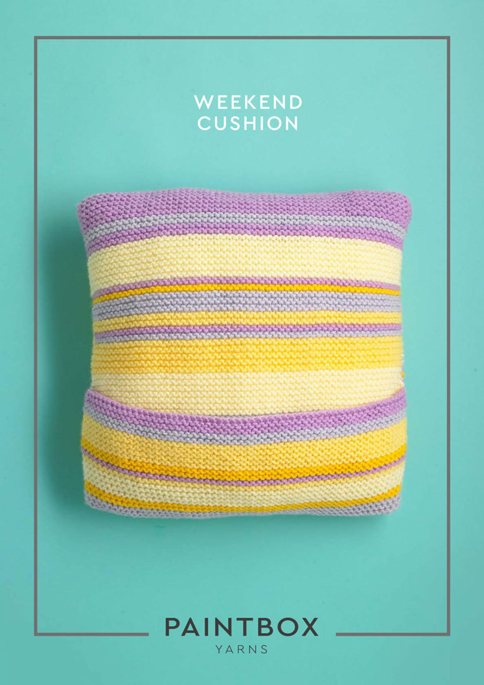 Weekend Cushion In Paintbox Yarns Simply Chunky