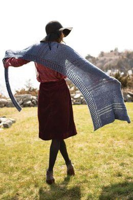 Tala Shawl in Berroco Ginkgo - 376-1 - Downloadable PDF