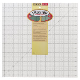 "Olfa 16.5"" x 16.5"" Non-Slip, Frosted Advantage Acrylic Ruler"