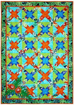 Michael Miller Fabrics Garden Isle Quilt - Downloadable PDF
