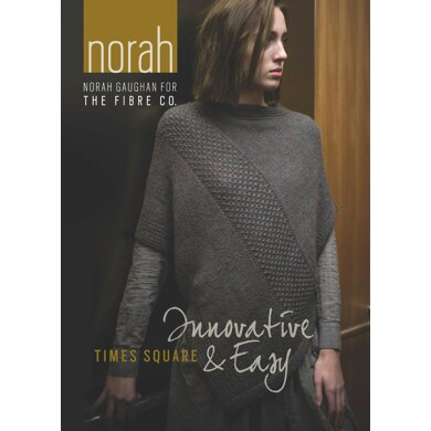 Times Square Poncho by Norah Gaughan in The Fibre Co. Knightsbridge - Downloadable PDF
