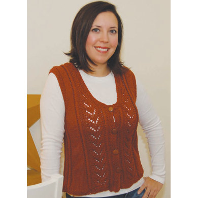 Audrey Vest in Knit One Crochet Too 2nd Time Cotton - 1576