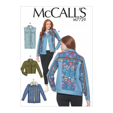 McCall's Misses' Jackets and Vest M7729 - Sewing Pattern
