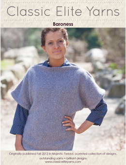 Baroness Pullover in Classic Elite Yarns Majestic Tweed