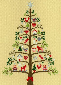 Bothy Threads Scandi Tree Cross Stitch Kit