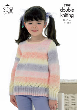 Sweater and Cardigan in King Cole Melody DK - 3309