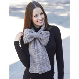 Bow Scarf in Bernat Super Value
