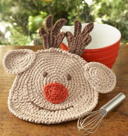 Reindeer Dishcloth in Lily Sugar 'n Cream Solids