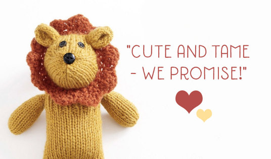 LoveKnitting LoveCrafts free pattern Little Lion by Lion Brand