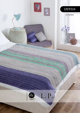 Uneven Berry Blanket in DY Choice La Paz - DYP314 - Leaflet