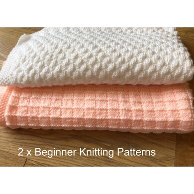2 x Easy Baby Blankets - Squares & Bumps