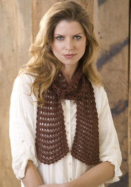 Sensational Lacy Scarf in Aunt Lydia's Bamboo Crochet Thread Size 10 - LC2420 - Downloadable PDF