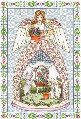 Design Works Kitty Angel Cross Stitch Kit