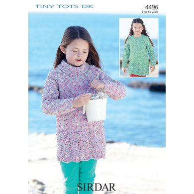 Dresses In Sirdar Snuggly Tiny Tots Dk 4496 Downloadable Pdf