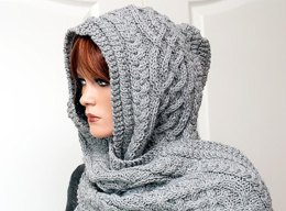 "Hooded scarf ""Anika"""