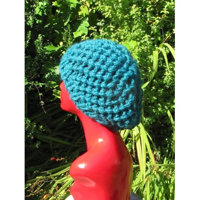 Superchunky Simple Lace Tam Slouch Hat