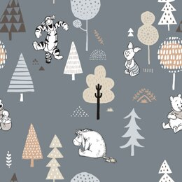 Craft Cotton Company Winnie The Pooh Woodland - Woodland Blue