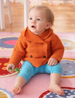 Garter Stitch Hooded Jacket in Bernat Softee Baby Solids