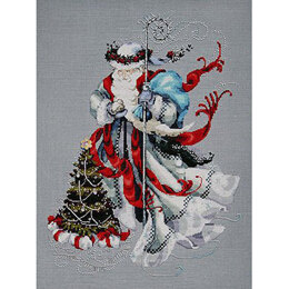Mirabilia MD100 - Winter White Santa Chart - with Crystal Charm - 949476 -  Leaflet