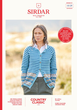 Ladies Cardigan in Sirdar Country Classic 4 Ply - 10129 - Leaflet
