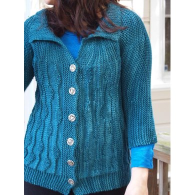 Sideways Leaf Cardigan