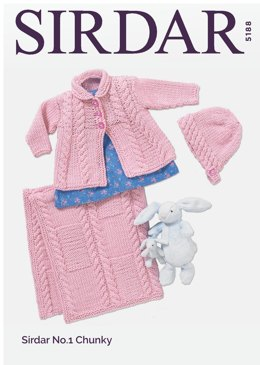 Coat & Accessories in Sirdar No.1 Chunky  - 5188 - Downloadable PDF