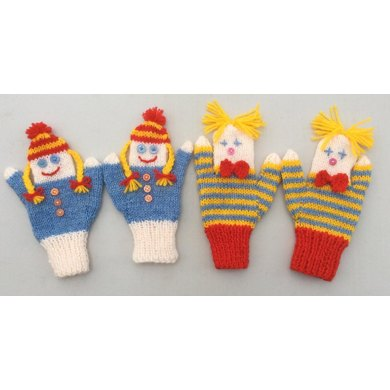 Doll and Clown Puppet Mittens