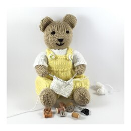 Benny teddy bear knitting pattern 19037