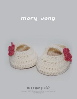 Off White Mary Jane Baby Booties