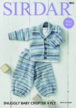 Jacket & Trousers in Sirdar Snuggly Baby Crofter 4Ply - 4866 - Downloadable PDF