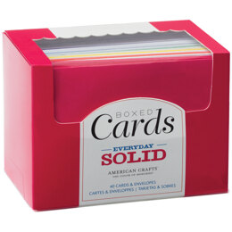 "American Crafts A2 Cards W/Envelopes (4.375""X5.75"") 40/Box - Everyday Solid"