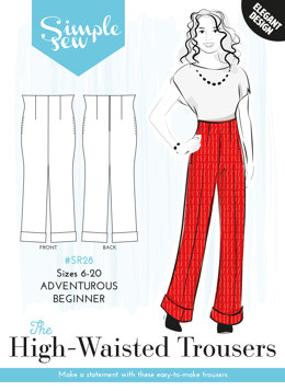 Simple Sew Patterns The High-Waisted Trousers SR28 - Sewing Pattern