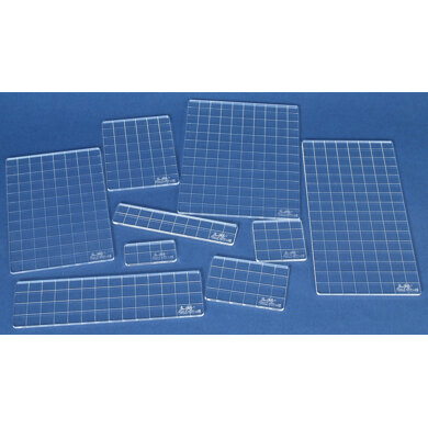 Stampers Anonymous Tim Holtz Acrylic Stamping Grid Blocks 9/Pkg - 482725